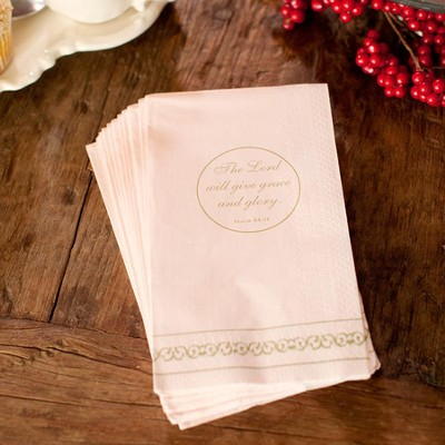 Flickers of Gold, the Lord Will Give grace Napkins, Package of 16  -