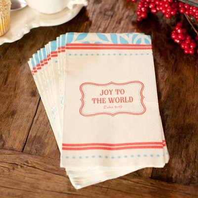 Vintage Fun, Joy To the World Napkins, Package of 16  -