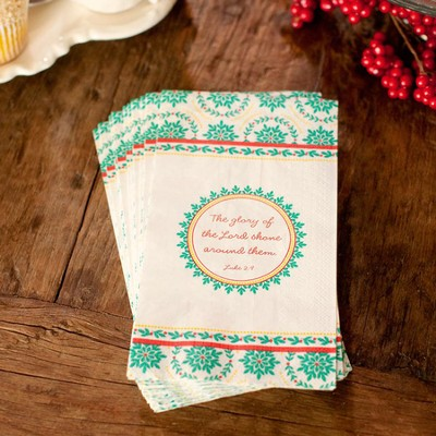Glory Bright, The Glory Of the Lord Napkins, Package of 16  -