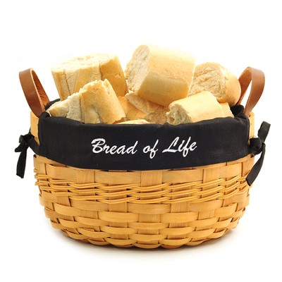 Bread of Life Bowl Basket, Black Liner  -