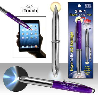 3 in 1: iTouch, Light, Pen, Purple  -