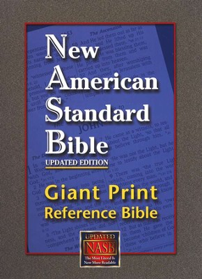NASB Giant-Print Reference Bible, Genuine leather,  Burgundy  Thumb-Indexed  -     By: Bible