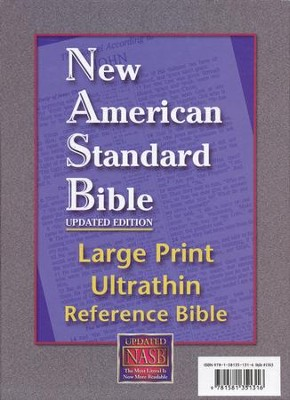 NASB UltraThin Large-Print Reference Bible--genuine - Slightly Imperfect  -