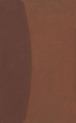 NASB Ultrathin Reference Bible--imitation leather, brown/light brown  -