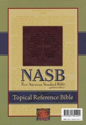 NASB Topical Reference Bible, Leathertex, Burgundy  -