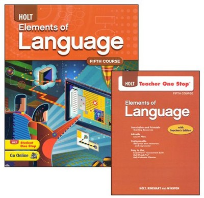 Holt Elements of Language Grade 11 Homeschool Package   -