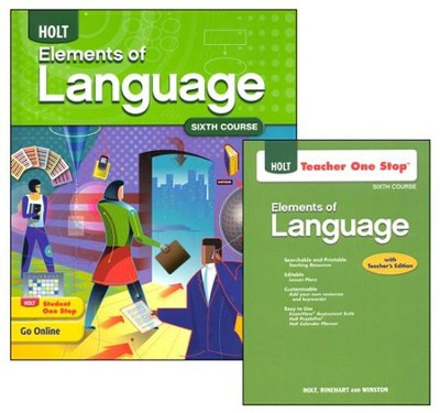 Holt Elements of Language Grade 12 Homeschool Package   -