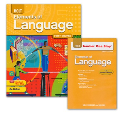 Holt Elements of Language Grade 7 Homeschool Package   -