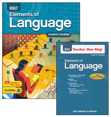 Holt Elements of Language Grade 10 Homeschool Package   -