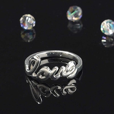 Love Word Ring, Size 10  -