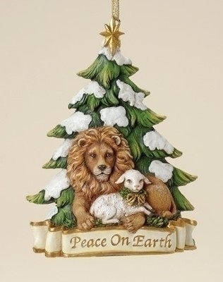 Peace on Earth Ornament, Lion and Lamb   -