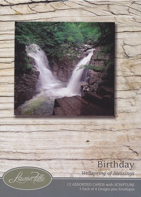 Wellspring of Blessings, Masculine Birthday Cards, Box of 12  -