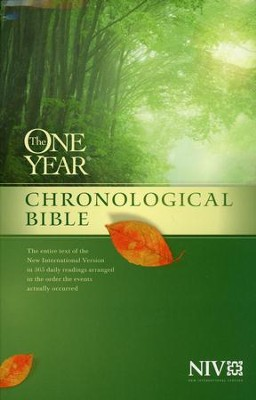 NIV One Year Chronological Bible, Paperback  -