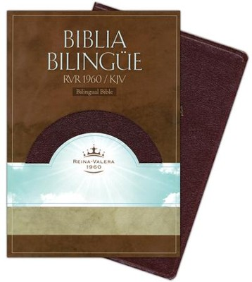Biblia Bilingue RVR 1960-KJV, Piel Fab. Rojizo / RVR 1960-KJV Bilingual Bible, Bon. Leather Burgundy  -