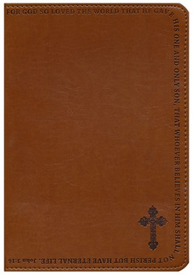 John 3:16 LuxLeather Journal, Tan   -
