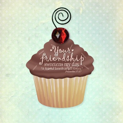 Your Friendship Sweetens My Day Magnet and Photo Holder  -