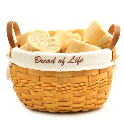Bread of Life Bowl Basket, White Liner  -