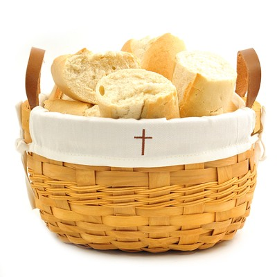 Cross Bowl Basket, White Liner  -