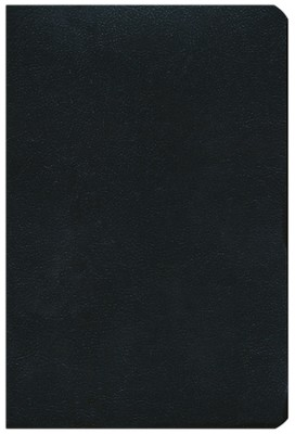 NKJV Large Print Personal Size Reference Bible, Black Bonded Leather, Thumb-Indexed  -