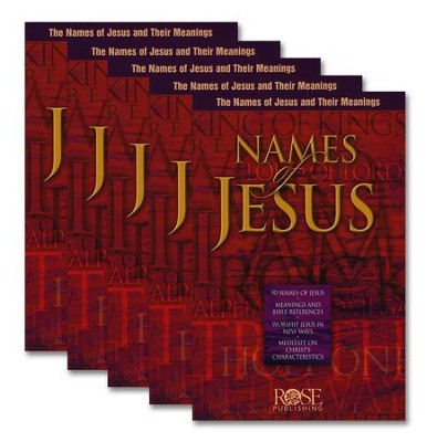 Names of Jesus Pamphlet - 5 Pack  -