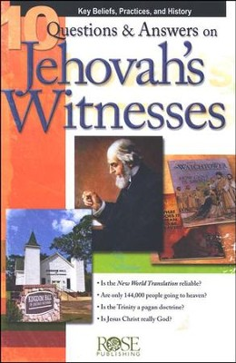 10 Questions & Answers on Jehovah's Witnesses  Pamphlet  -