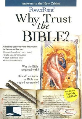 Why Trust the Bible?: PowerPoint CD-ROM   -