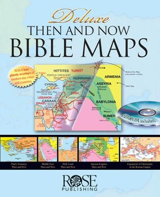 Then and Now Bible Maps, Deluxe Edition with CD-ROM   -