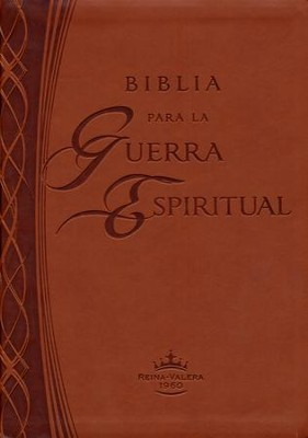 Biblia para la Guerra Espiritual RVR 1960, Piel Imit. Marró  (RVR 1960 Spiritual Warfare Bible, Imit. Leather, Brown)  -     By: Casa Creacion