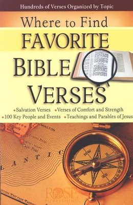 Where to Find Favorite Bible Verses, Pamphlet - 5 Pack   -