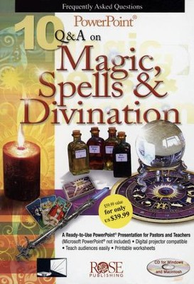 10 Questions & Answers on Magic, Spells, & Divination: Powerpoint CD-ROM  -