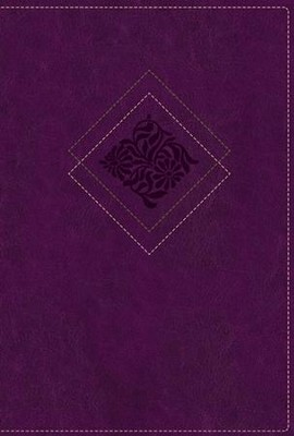 NLT Our Daily Bread Devotional Bible, Leatherlike Purple  -