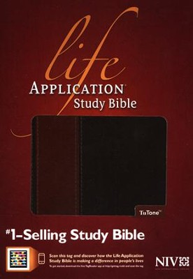 NIV Life Application Study Bible, TuTone Brown/Tan Indexed Leatherlike - Imperfectly Imprinted Bibles  -