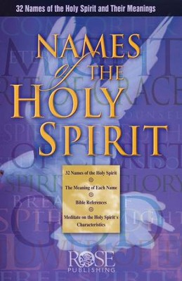 Names of the Holy Spirit, Pamphlet   -     By: William Ashby