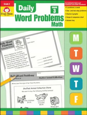 Daily Word Problems, Grade 3   -     By: Homeschool