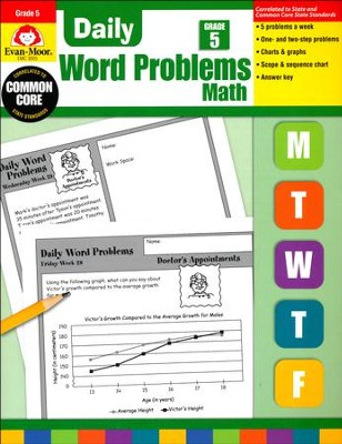 Daily Word Problems, Grade 5   -