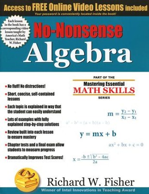 No-Nonsense Algebra   -     By: Richard W. Fisher