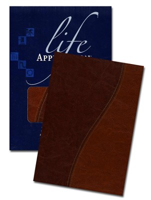 KJV Life Application Study Bible, TuTone Brown/Tan Indexed Leatherlike  -     By: Tyndale