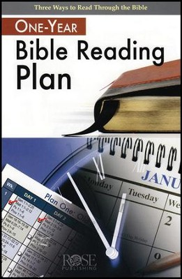 One-Year Bible Reading Plan, Pamphlet   -