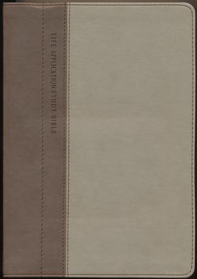 NLT Life Application Study Bible, TuTone Taupe/Stone Indexed Leatherlike  -     By: Tyndale