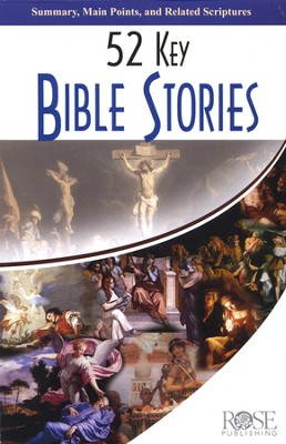 52 Key Bible Stories, Pamphlet   -