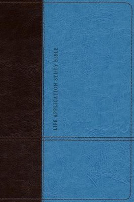 NLT Life Application Study Bible, Personal Size TuTone Dark Brown/Teal Leatherlike  -