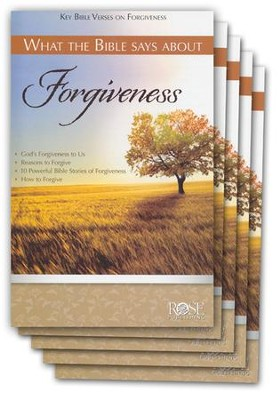 What the Bible Says About Forgiveness Pamphlet - 5 Pack  -