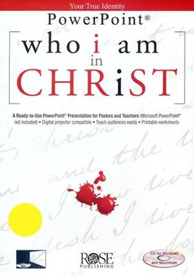 Who I Am in Christ: PowerPoint CD-ROM  -