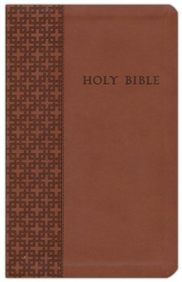 NLT Premium Value Compact Slimline Bible, Brown Leatherlike  -