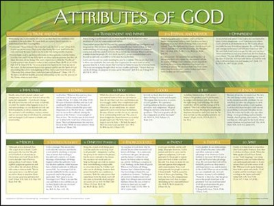 Attributes of God, Laminated Chart  -