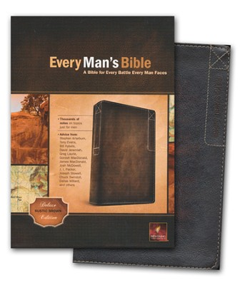 NLT Every Man's Bible, Rustic Brown Imitation Leather  -