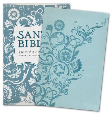 Biblia Compacta NTV, SentiPiel Azul Claro  (NTV Compact Bible, Light Blue Imit. Leather)   -