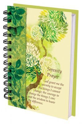 Serenity Prayer Spiral Journal  -