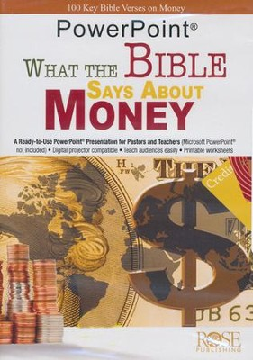 What The Bible Says About Money - PowerPoint CD-ROM   -     By: The Rose Staff