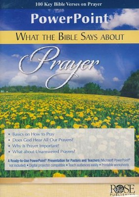 What the Bible Says About Prayer - PowerPoint CD-ROM   -